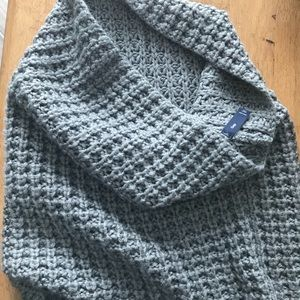 Grey knit cowel